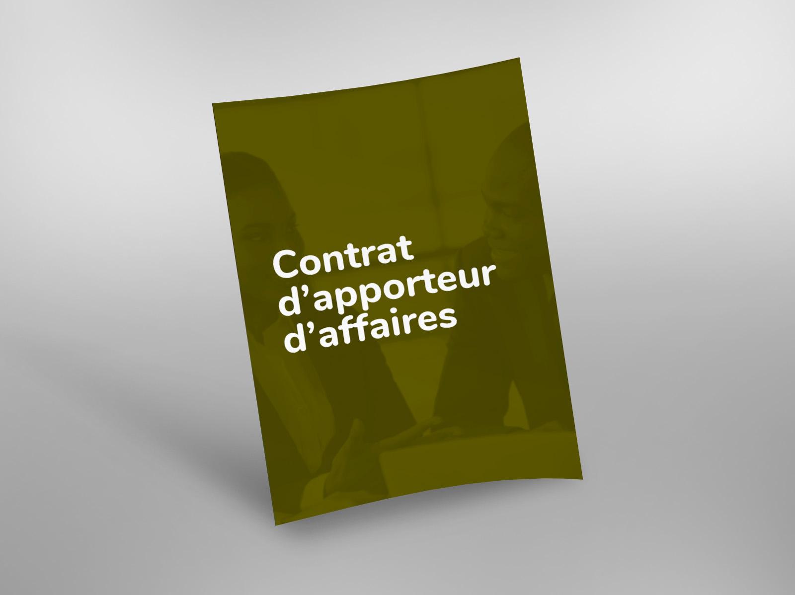 Contrat D Apporteur D Affaires Easy Law
